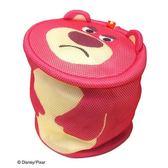 〔小禮堂〕玩具總動員 熊抱哥 大臉造型圓筒洗衣袋《桃》洗衣網袋 4992831-14581
