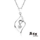 蘇菲亞SOPHIA - sweet heart 系列0.02克拉18K鑽石項鍊