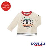 DOUBLE_B 日本製 小黑熊星星長袖T恤(象牙)