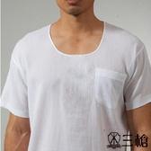 三槍牌3件組時尚型男縐縐布半門襟短袖衫HE431