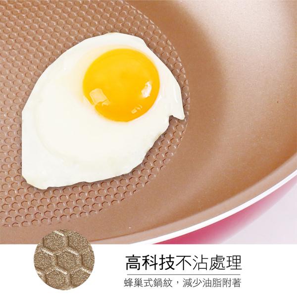 HIKARI日光生活-H032蜂巢不沾炒鍋32cm-附蓋