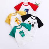 寶寶短袖純棉T恤男童女童夏季薄款嬰兒童裝中小童夏裝半袖上衣服