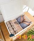 衣物收納盒放內衣褲文胸襪子家用衣櫃內分格帶蓋整理箱【淘嘟嘟】