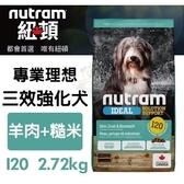 *KING*紐頓《專業理想-I20三效強化犬/羊肉糙米配方》2.72kg