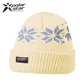 Polarstar 反摺橫條羊毛保暖帽 P13606『白』