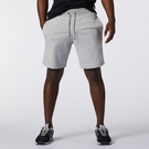 New Balance Essentials 男裝 短褲 休閒 棉質 抽繩 標籤 灰【運動世界】AMS11502AG