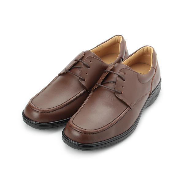 CHIC&F 真皮綁帶商務皮鞋 深咖 5680 男鞋 鞋全家福