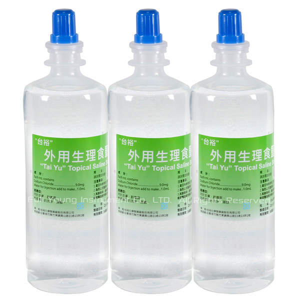 【醫康生活家】台裕 外用生理食鹽水 500ML 3罐組