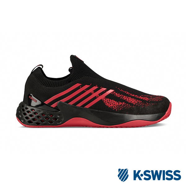 K-SWISS Aero Knit專業輕量網球鞋-男-黑/紅