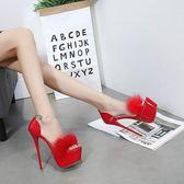 恨天高跟鞋 女鞋16cm超細跟情趣性感夜店魚嘴涼鞋小碼舞臺鞋走秀鞋-小精靈生活館