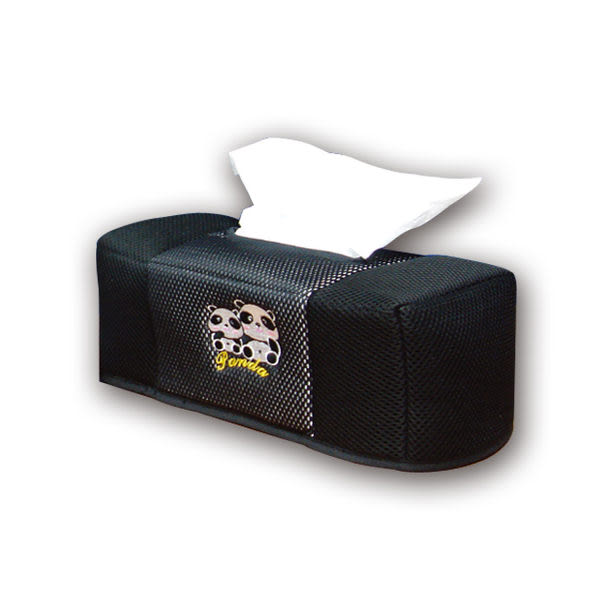 安伯特 竹炭 熊貓面紙盒 可愛貓熊 圓仔面紙盒 車用面紙盒【DouMyGo汽車百貨】