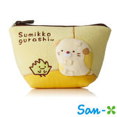 小貓款【日本正版】San-X 角落生物 角落公仔 絨面 船型 化妝包 收納包 筆袋 鉛筆盒 - 425937