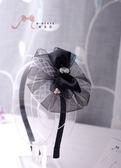 蜜諾菈Minerva‧現貨‧神秘感黑色網紗髮箍‧編號00407