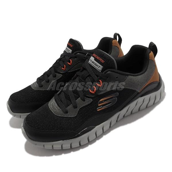 Skechers 休閒鞋 Overhaul Betley 男鞋 黑 灰 記憶鞋墊 外出 運動鞋 【ACS】 232046-BKCC