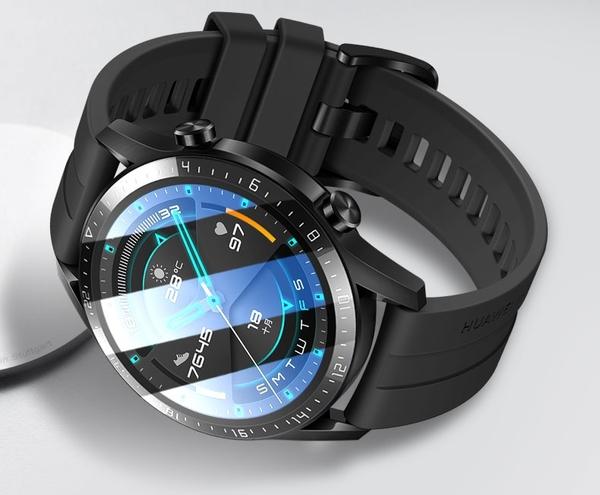 【3D曲面複合】華為 WATCH GT2 pro 46mm 熱彎膜 防刮 耐刮 全螢幕 保護膜 保護貼
