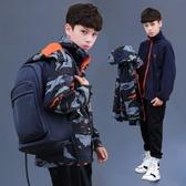 兒童外套 男童沖鋒衣三合一可拆卸中大童加絨外套秋冬兒童戶外服