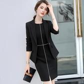秋裝正式場合職業連身裙女2018新款時尚氣質職場女裝裙子
