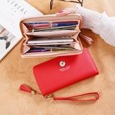 錢包女長款女士小雛菊手拿包新款拉鍊大容量多功能皮夾手機包 智慧e家 新品