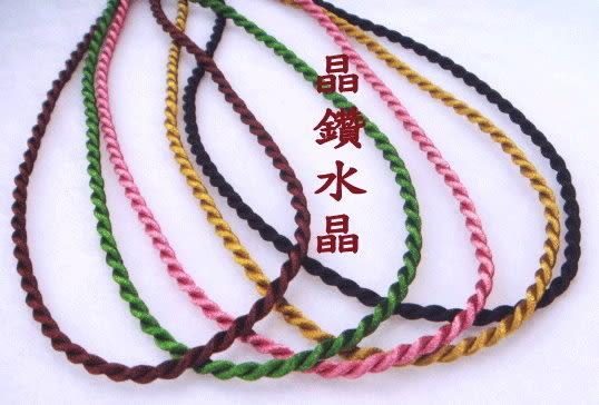 『晶鑽水晶』帥氣布索*中國結項鍊*完全防止過敏~中性款-多色選擇