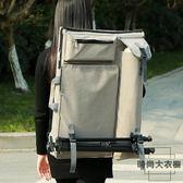 雙肩4K畫板包藝考專用畫板袋大容量手提畫具收納【時尚大衣櫥】