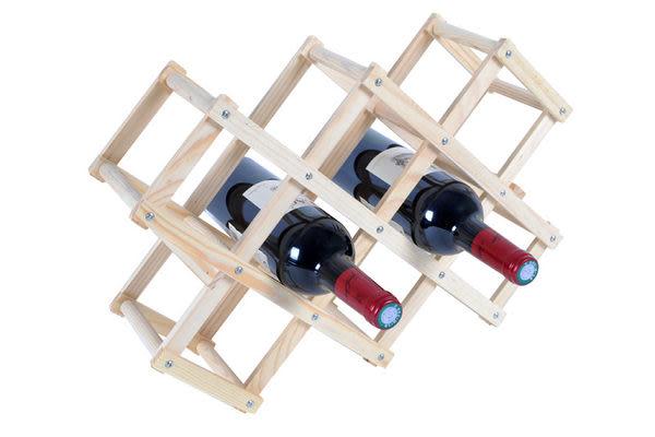 【韓式情人】原木簡易紅酒架/酒瓶架/收納架/居家酒瓶架