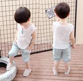 男童套裝 男童寶寶帥氣1周歲套裝童裝潮寶貝男孩子衣 珍妮寶貝