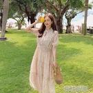 小碎花連衣裙女夏季2021新款韓版收腰甜美初戀裙法式顯瘦裙子快速出貨