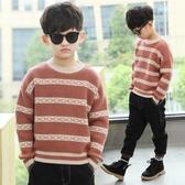 男童毛衣套頭新款秋冬款韓版兒童線衣男孩針織衫 萬客居