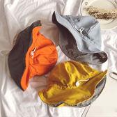 純色格子雙面可調節漁夫帽 童帽 帽子