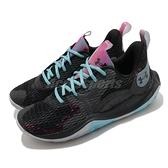 Under Armour 籃球鞋 UA Spawn 3 黑 藍 男鞋 避震 低筒 運動鞋 男鞋【ACS】 3024777001