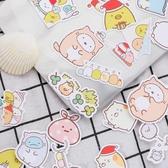 角落生物貼紙-可愛角落生物手賬貼紙卡通墻角生物裝飾貼手工日記自制貼畫100枚