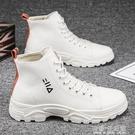 馬丁靴男秋季男鞋冬季戶外高筒工裝靴子男潮流英倫風男士帆布短靴 雙十二全館免運
