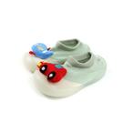 兒童鞋 懶人鞋 襪鞋 草綠色 汽車和飛機 小童 2012 no022 11.5~13.5cm