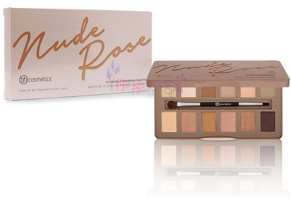 美國 BH Cosmetics Nude Rose 玫瑰12色眼影盤 16g (鐵盒外盒) BH原廠真品【彤彤小舖】