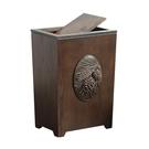 美式創意家用有蓋垃圾桶木客廳廚房臥室衛生間方形帶蓋垃圾簍紙簍 NMS 樂活生活館