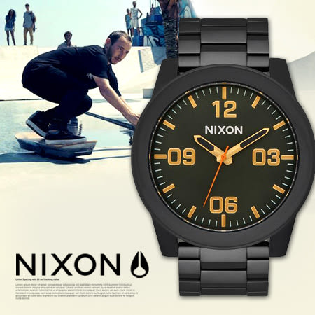 NIXON A346-1032 THE CORPORAL SS 軍事風格 熱賣中!