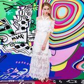 蕾絲一字領上衣+長裙(兩件套)-時尚優雅唯美氣質女裙裝73lk8[巴黎精品]