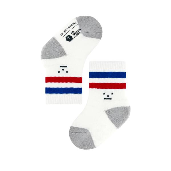韓國 socks appeal® X SML 聯名雙槓運動襪 寶寶 (紅藍)