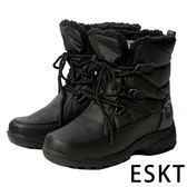 【ESKT】女中筒雪鞋『黑』SN223 雪靴.賞雪必備.冰爪.防滑鞋底.雪地.靴.賞雪.滑雪.冬天.保暖