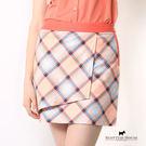 SCOTTISH HOUSE經典格紋裙 窄裙版型 顯瘦迷人 腰頭撞色搭配層次的堆疊 更添造型感