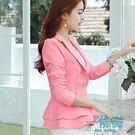 西装外套女修身長袖小西裝外套短款