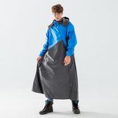 BrightDay-X武士斜開連身式雨衣-藍