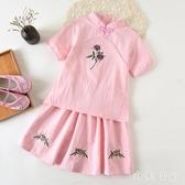 女童漢服春夏中國風童裝女寶寶古裝旗袍復古改良兒童唐裝超仙兩件裝 GD868『小美日記』