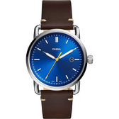 FOSSIL Commuter 新時代手錶-藍x咖啡/42mm FS5539