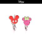 【迪士尼系列】水果系米奇米妮不對襯夾式耳環~夏綠蒂didi-shop