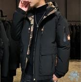 工裝外套 男士冬季2019新款短款羽絨棉服加厚棉襖外套工裝面包服男潮牌  艾森堡