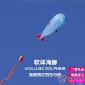 軟體風箏海豚風箏鯨魚卡通風箏兒童大型軟體風箏易飛【聚可愛】