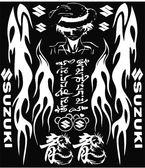 鈴木摩托車貼花反光跑車改裝飾踏板電動車貼紙福喜防水貼膜拉花【韓衣舍】