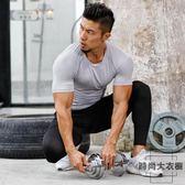 緊身衣男運動短袖T恤速干衣高彈健身衣【時尚大衣櫥】