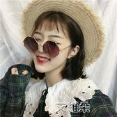 墨鏡女潮八角圓臉顯瘦復古原宿風太陽鏡網紅韓國街拍眼鏡    艾維朵